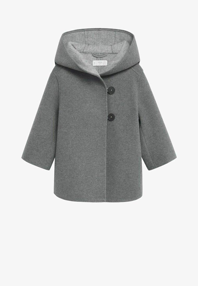 Mango - JAS MET CAPUCHON EN KNOPEN - Short coat - grijs