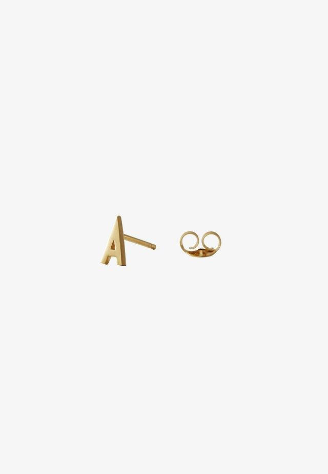 EARRING STUDS ARCHETYPES - A - Earrings - gold