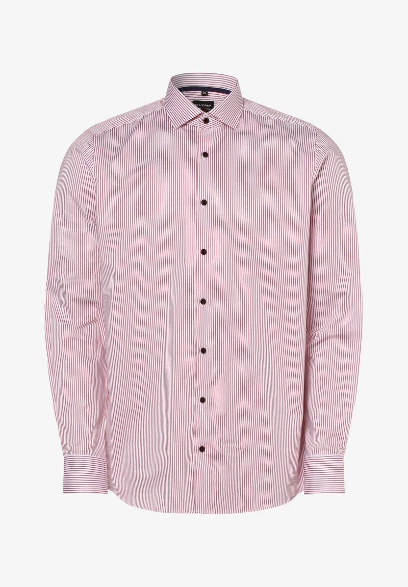 OLYMP - Shirt - weiß rot