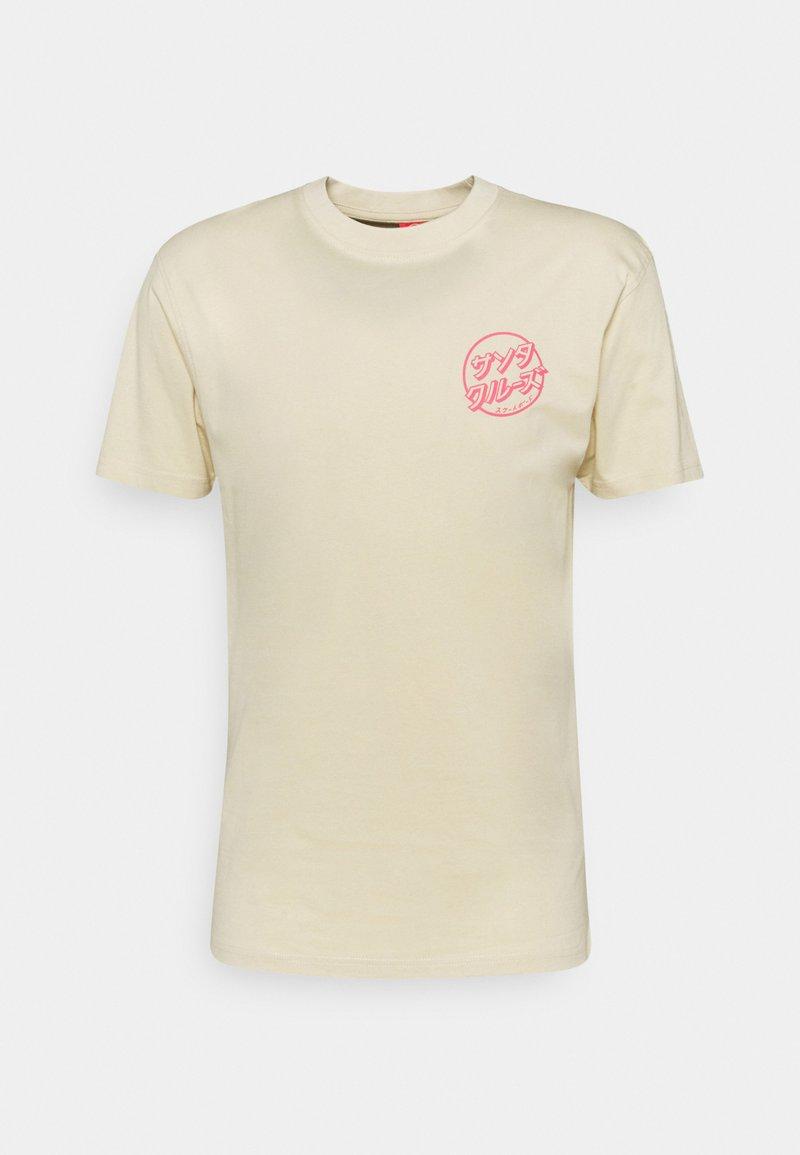 Santa Cruz - EXCLUSIVE PASTEL JAPANESE DOT UNISEX - Print T-shirt - bone