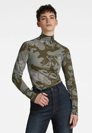 Long sleeved top - khaki, grey