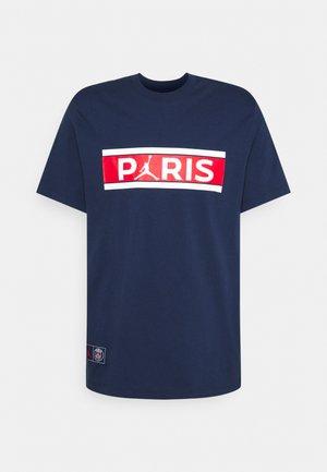PARIS ST GERMAIN WORDMARK TEE - Club wear - midnight navy
