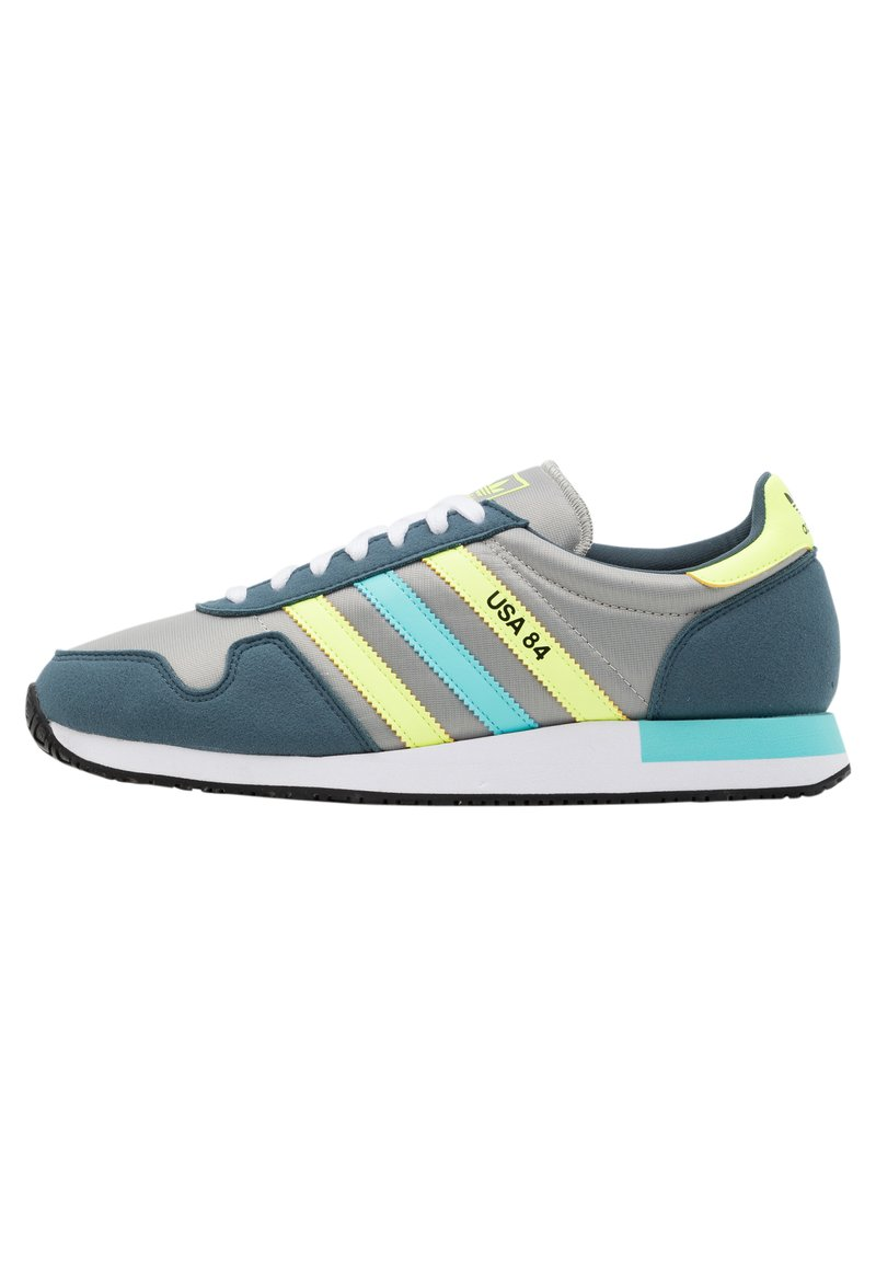 adidas Originals - USA 84 CLASSIC RUNNING SPORTS INSPIRED SHOES UNISEX - Trainers - grey/hi-res yellow/clear aqua