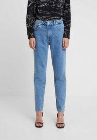 Selected Femme - SLFLOU DAWN - Slim fit jeans - dark blue denim - 0