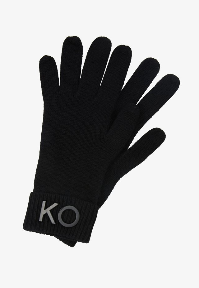 SOLID GLOVES   - Gloves - black