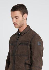 BOSS - JOAST - Leather jacket - brown - 5