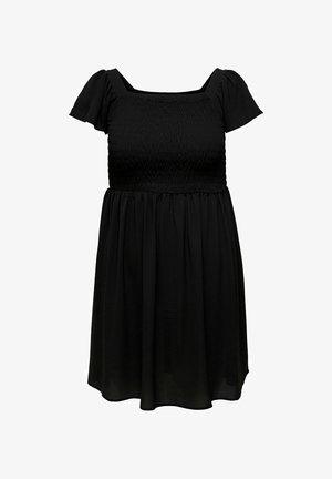 CURVY SMOKDETAIL - Jersey dress - black