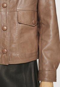 Sisley - Leather jacket - brown - 5