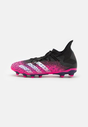 PREDATOR FREAK .3 MG - Moulded stud football boots - core black/footwear white/shock pink