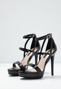 Miss Selfridge - CROC PLATFORM  - Korolliset sandaalit - black - 4