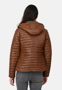 Oakwood - POWER - Leather jacket - cognac color - 2