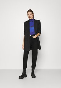 Who What Wear - RUCHED TURTLENECK - Long sleeved top - blue - 1