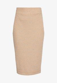 JAQUARD - Pouzdrová sukně - off white