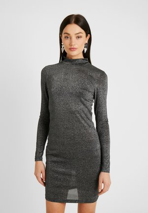 ONYGLADYS HIGH NECK GLITTER - Cocktailkjoler / festkjoler - black