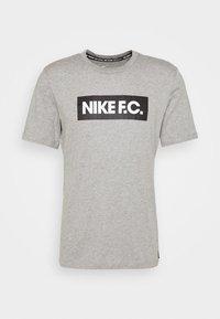 TEE ESSENTIALS - Print T-shirt - grey heather/black