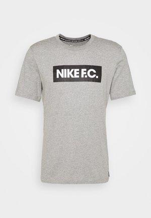 FC TEE ESSENTIALS - Sports shirt - grey heather/black