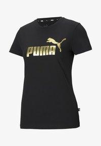 Puma - Print T-shirt - black gold - 0