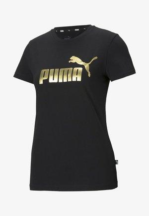 Print T-shirt - black gold