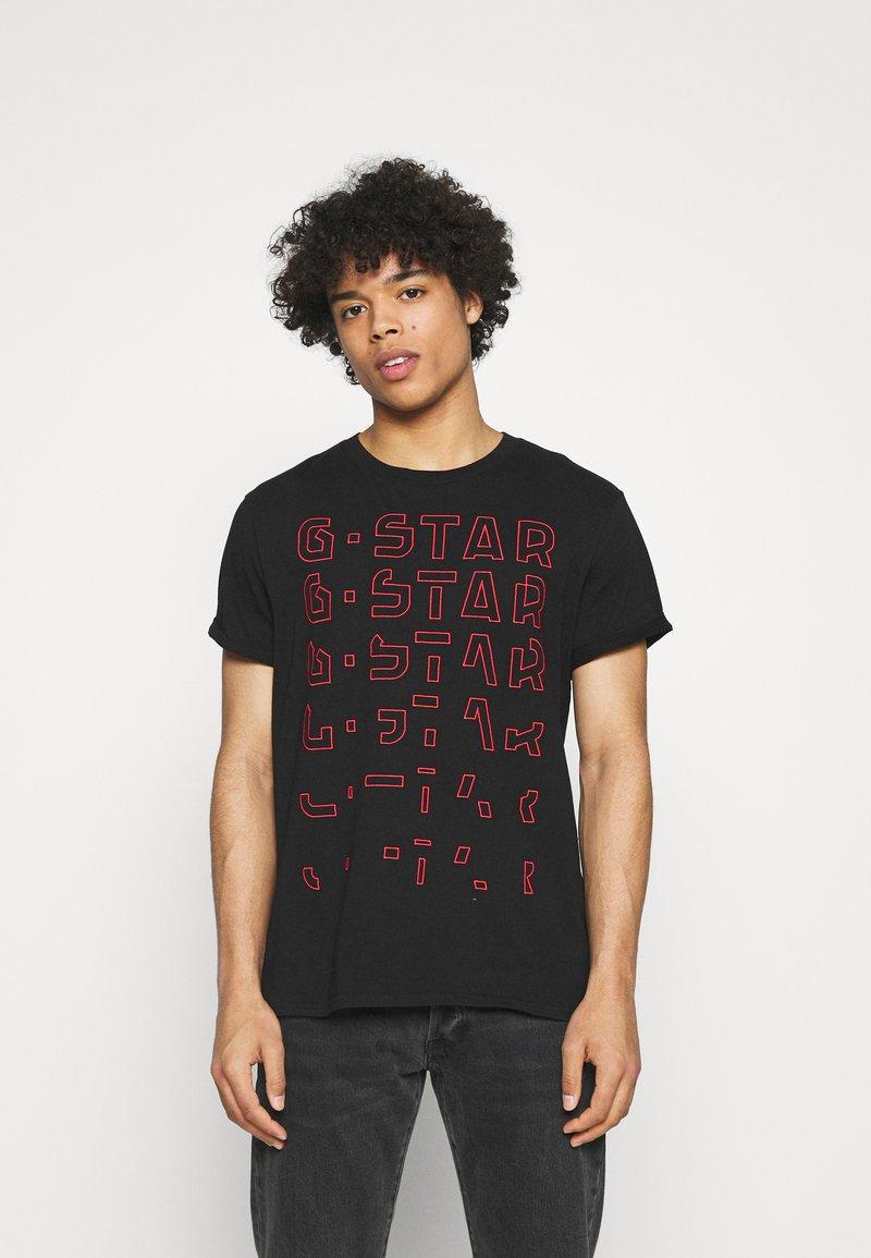 G-Star - EMBRO GRADIENT GRAPHIC LASH - Print T-shirt - black