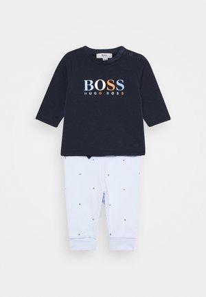 BABY SET - Teplákové kalhoty - navypale blue
