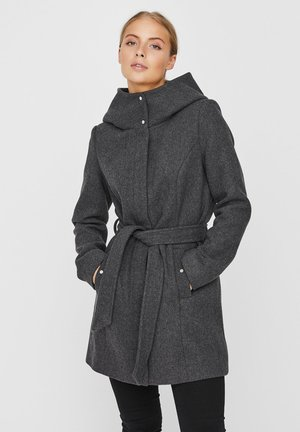 Trenchcoat - dark grey melange