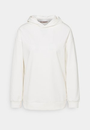 Long loose fit hoodie - Felpa con cappuccio - white