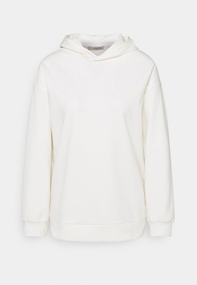 Long loose fit hoodie - Mikina skapucí - white