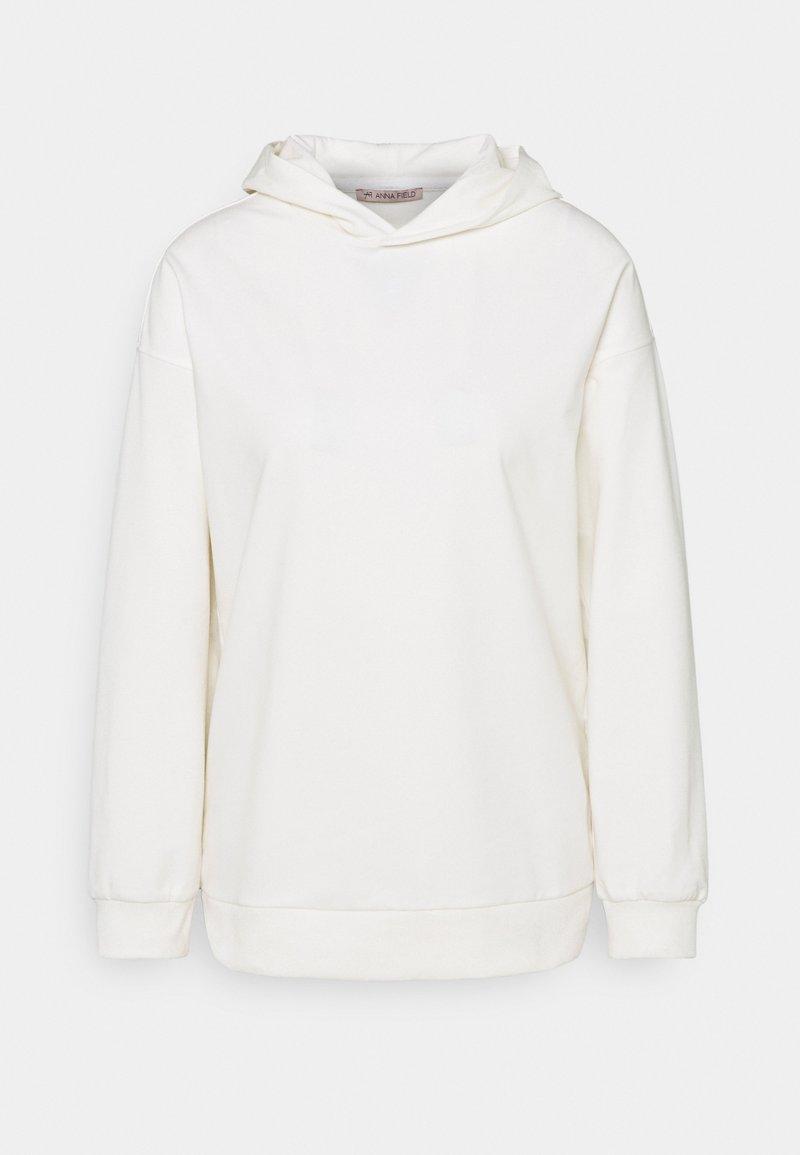 Anna Field - Long loose fit hoodie - Hoodie - white