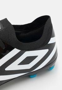 Umbro - VELOCITA VI PREMIER FG - Moulded stud football boots - black/white/cyan blue - 5