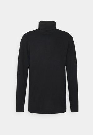 ROLLNECK TEE - Long sleeved top - black