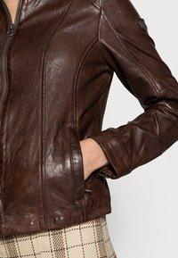 Gipsy - JUANA LONTV - Leather jacket - dark brown - 3