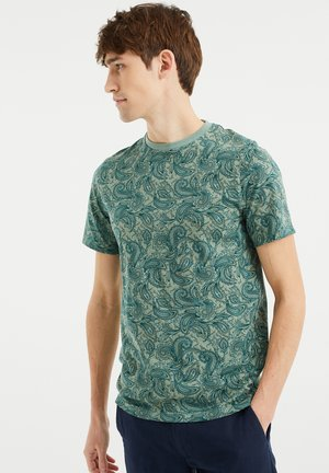 MET PAISLEYDESSIN - Print T-shirt - green