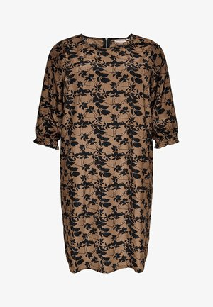 Day dress - toasted coconut