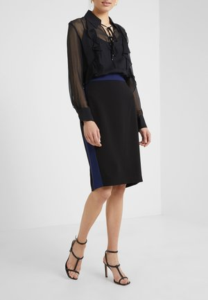 ESTEEM - Pencil skirt - black/navy