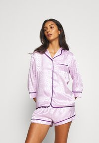 Wolf & Whistle - TRACY SLEEP SHIRT SHORT SLEEVED SHORTS  - Pyjamas - lilac - 1