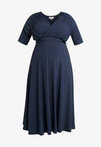 Lost Ink Plus - EXCLUSIVE DERSS WITH RUCHED SHOULDERS - Vestido informal - blue - 5