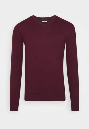 Jumper - wine red melange