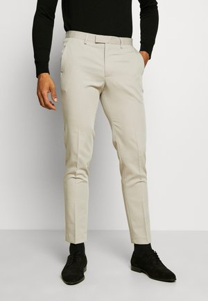 JPRVINCENT TROUSER - Suit trousers - beige