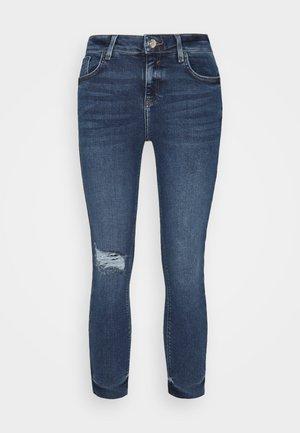 Straight leg -farkut - mid blue