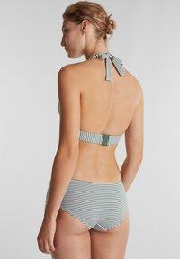 Esprit - MIT STREIFEN - Bikini top - olive - 1