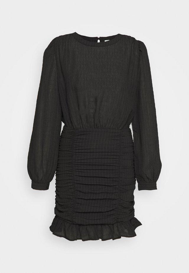 RUCHE DRESS - Freizeitkleid - black