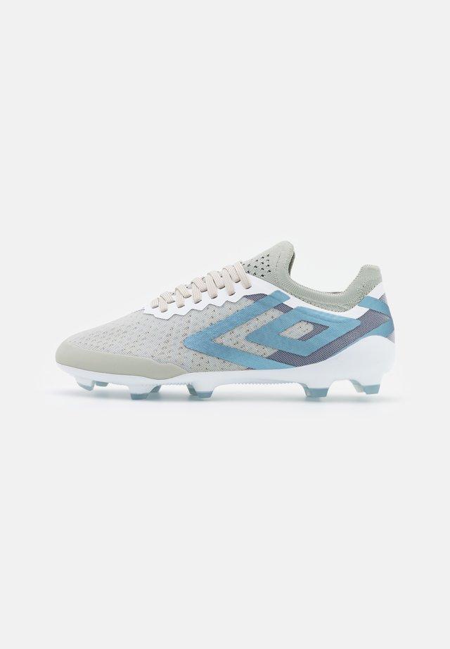 VELOCITA VI PRO FG - Moulded stud football boots - white/goblin blue/sargasso sea