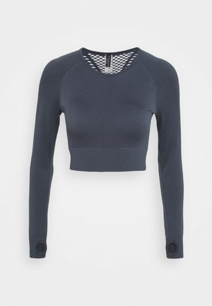 SEAMLESS PANELLED LONGSLEEVE - Long sleeved top - ombre blue
