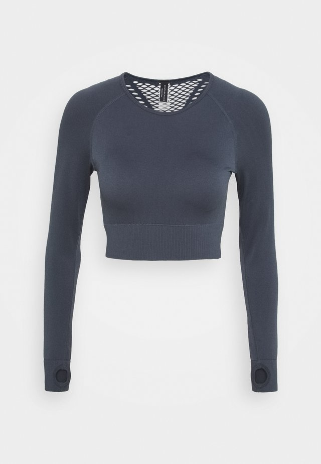 SEAMLESS PANELLED LONGSLEEVE - Maglietta a manica lunga - ombre blue