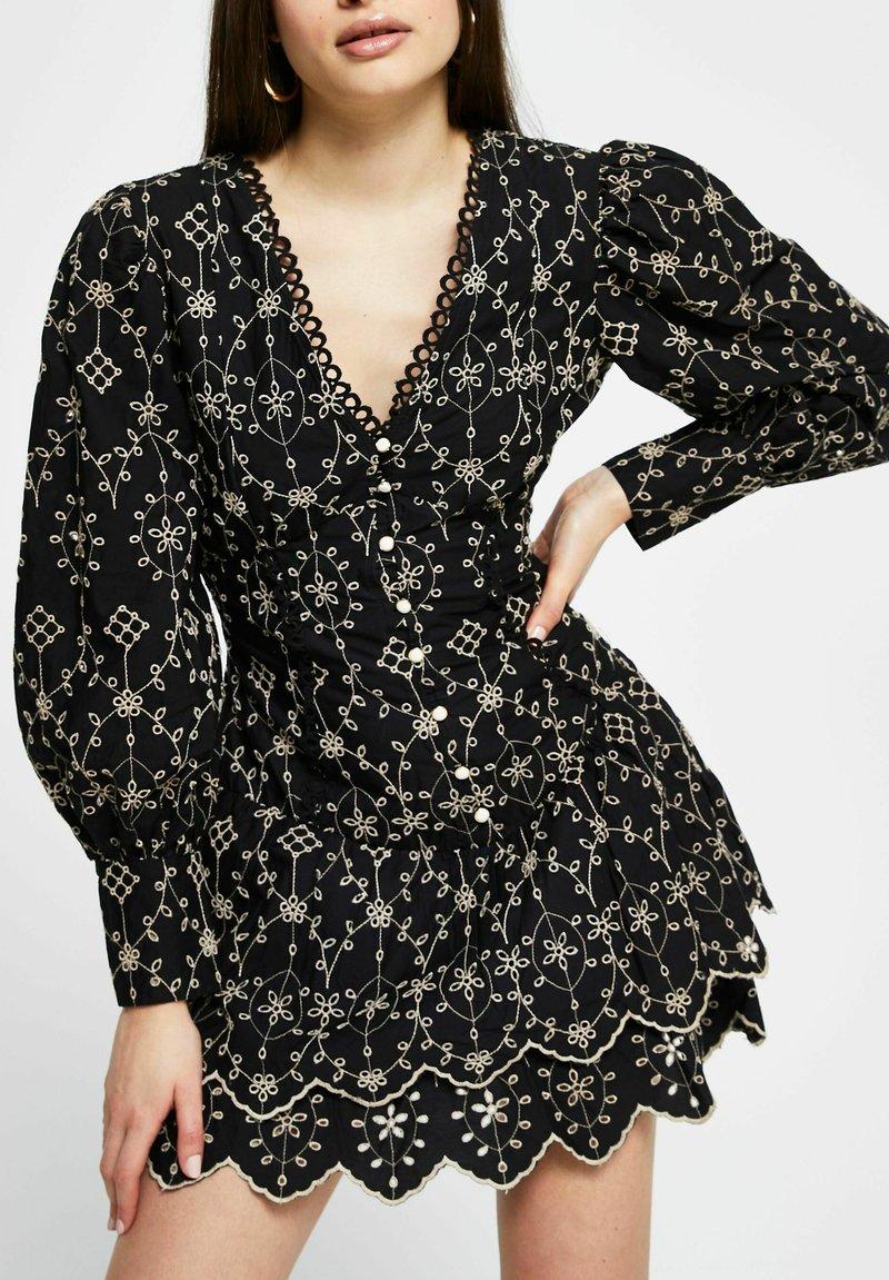 River Island - Shirt dress - black