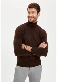 DeFacto - Stickad tröja - brown - 0