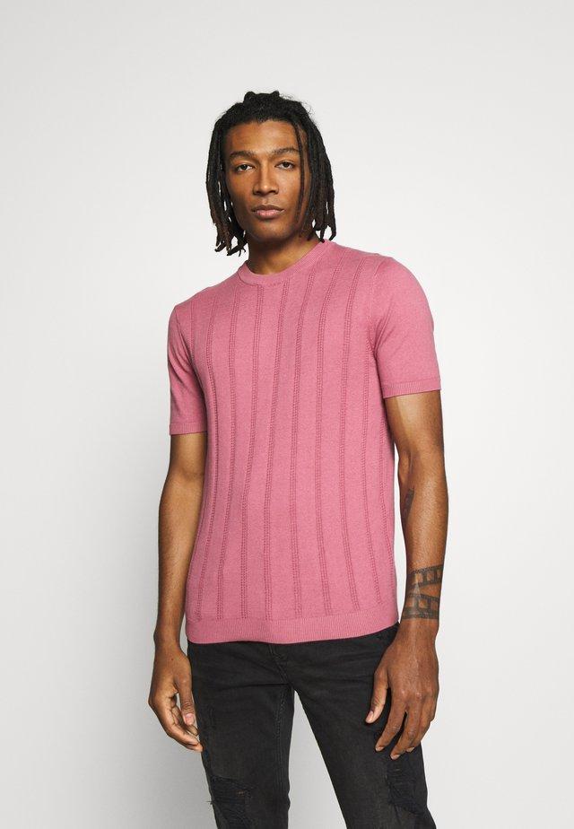 POINTELLE CREW - T-shirt con stampa - pink