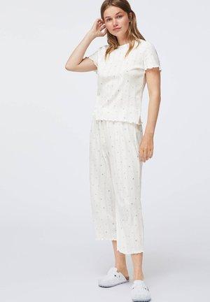 BLUE FLOWER - Pyjama top - white