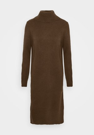 ONLBRANDIE ROLL NECK DRESS - Strikket kjole - chicory coffee