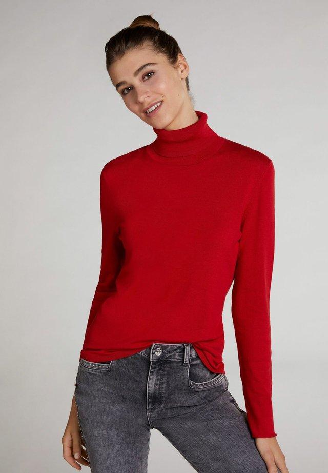 BASIC - Strickpullover - pompeian red